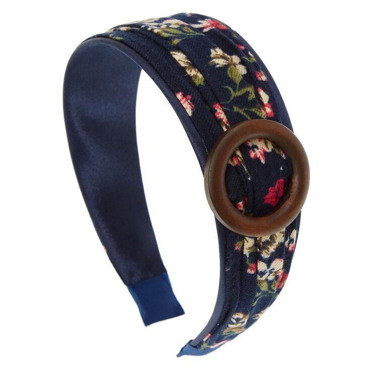 Wide Navy Floral Headband  2bf6ebd510d
