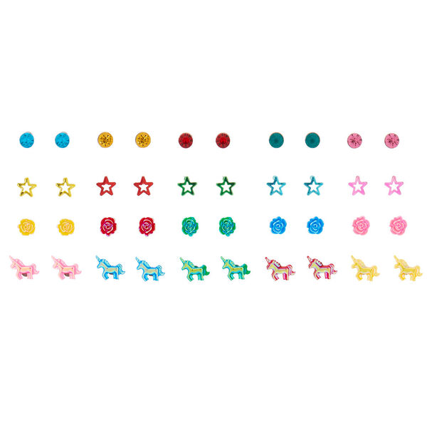 Claire's - girly icon assorted unicorn stud earrings - 1