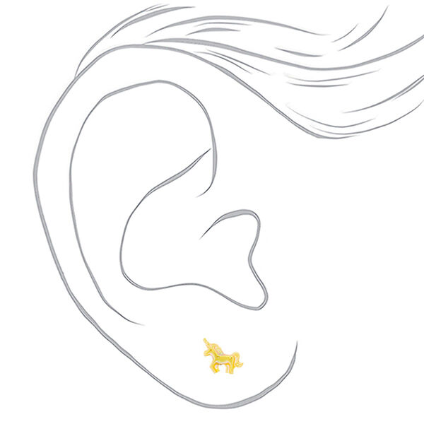 Claire's - girly icon assorted unicorn stud earrings - 2