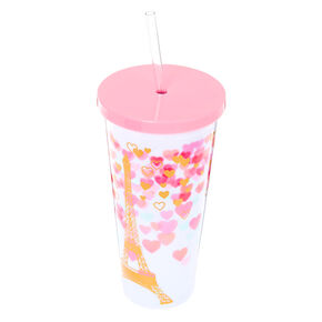 Paris Love Tumbler Cup - White,