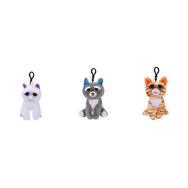 Claire's - feisty pets plush keyring clip - 1