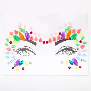 Bijoux de peau pour les yeux fluo,
