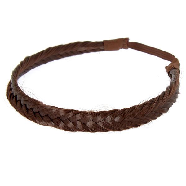 Claire's - faux hair fishtail braid headwrap - 1