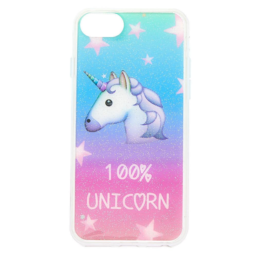 Blue Unicorn Glitter Protective Case