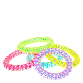 Claire's Club Neon Spiral Hair Bobbles - 5 Pack,