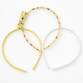 Claire's Club Spring Floral Headbands - Yellow, 3 Pack,