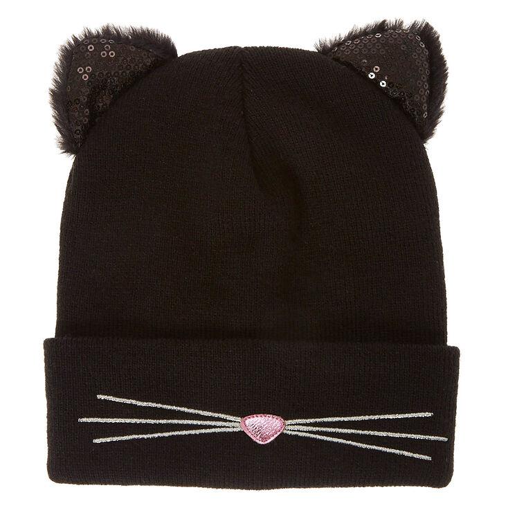 1eeb879efb3 Black Cat Beanie