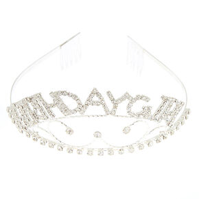 Birthday Girl Filigree Tiara - Silver,