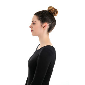 Small Brown Hair Bun Doughnut,