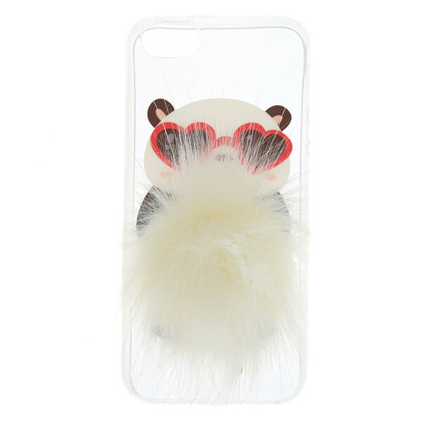 Claire's - coolpanda pom phone case - 1