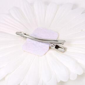 Daisy Flower Hair Clip - White,