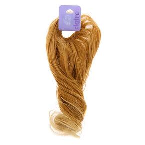 Élastique avec longs cheveux synthétiques bouclés blonds,