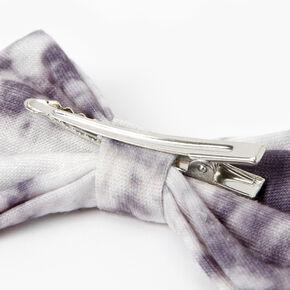 Barrette à nœud tie-dye - Smoky Gray,
