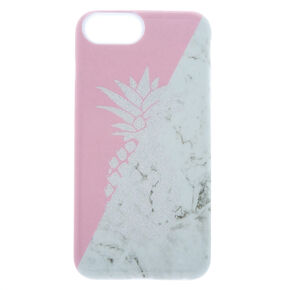 Pink Marble Pineapple Protective Phone Case - Fits iPhone 6/7/8/SE,