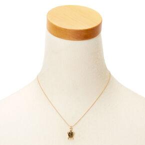 Mood Turtle Pendant Necklace,