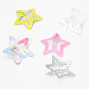 Claire's Club Glitter Star Snap Hair Clips - 5 Pack,