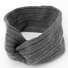 Sweater Twisted Headwrap - Grey,