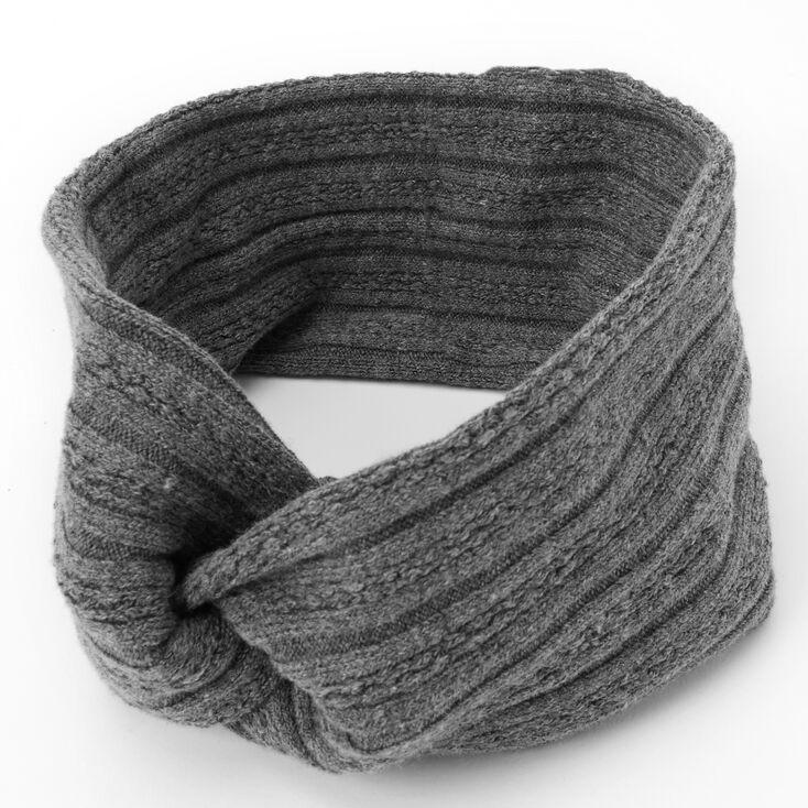 Sweater Twisted Headwrap - Grey,