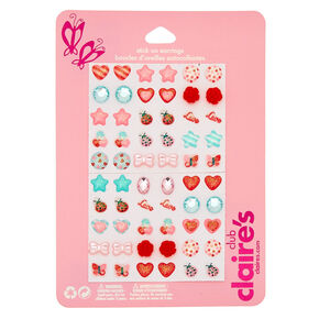 Claire's Club Lovebug Stick On Earrings - 30 Pack,