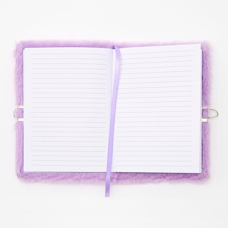 Giant Initial Furry Lock Diary - S,