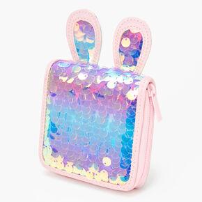 Bunny Ears Sequin Wallet - Pink,