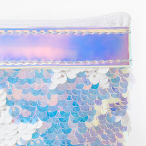 Reversible Sequin Holographic Star Zip Coin Purse,