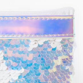 Porte-monnaie avec fermeture éclair et étoile holographique en sequins réversibles,