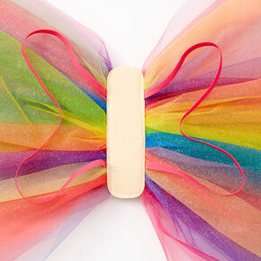 Glittery Rainbow Tulle Wings,