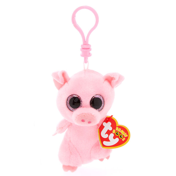 Ty Beanie Boo Posey the Pig Keyring Clip  db976529c90