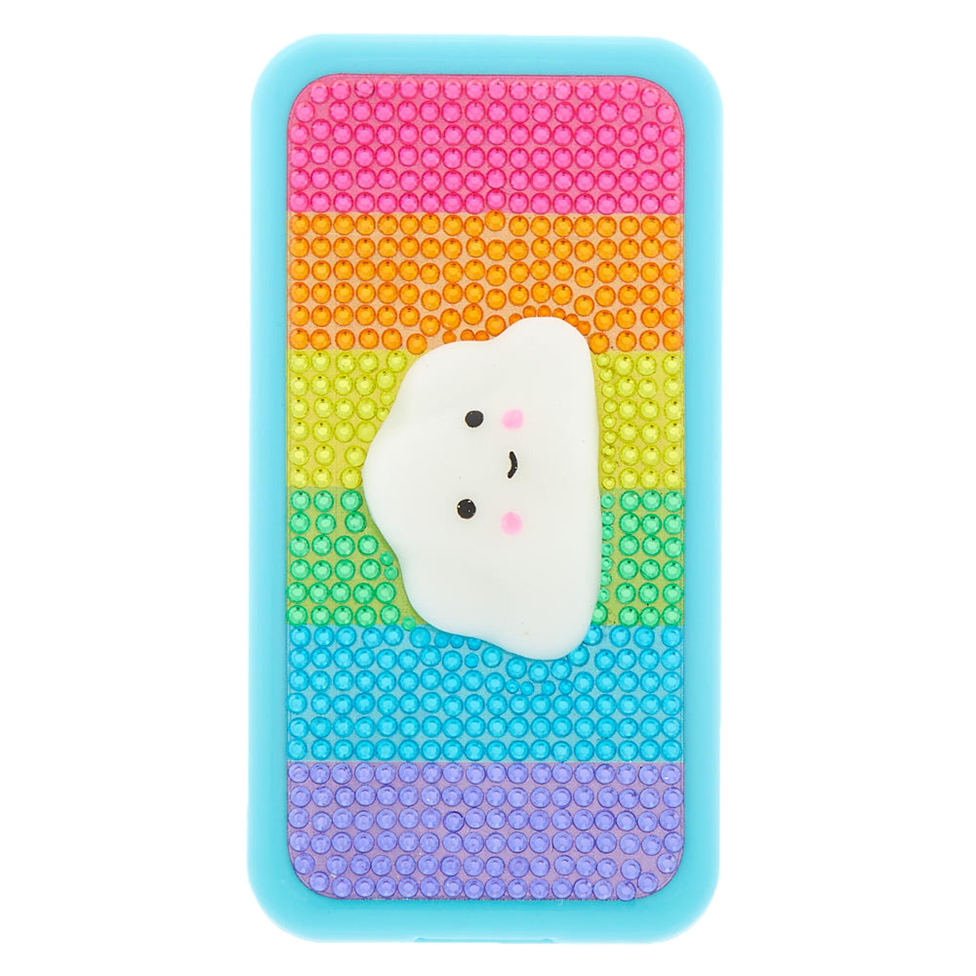 12d5103e6040ed Rainbow Cloud Cell Phone Bling Makeup Set - Turquoise | Claire's