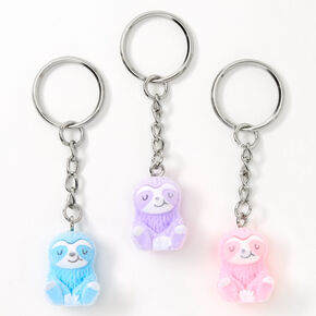 Best Friends Sophie the Sloth Keychains - Pink - 3 Pack,