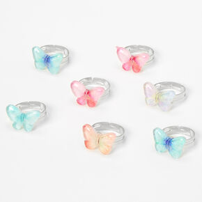 Claire's Club Butterfly Ring Set - 7 Pack,