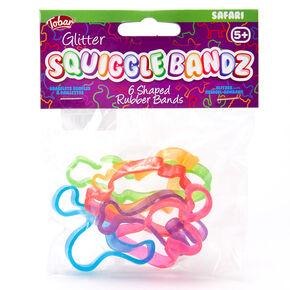 Bracelets souples à paillettes Squiggle Bandz Tobar® - Lot de 6,