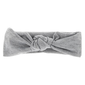 Claire's Club Top Knot Headwrap - Gray,