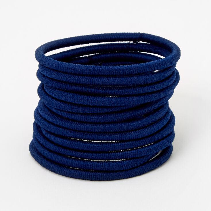Luxe Elastic Hair Ties - Navy, 12 Pack,