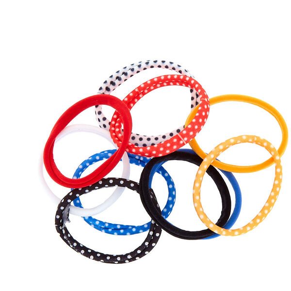 Claire's - polka dot mix hair ties - 2