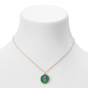 Gold Zodiac Mood Pendant Necklace - Gemini,