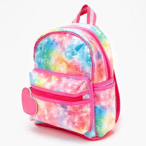 Sequin Tie-Dye Mini Backpack- Rainbow,