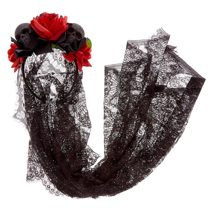 Blood Bride Floral Veil Headband,