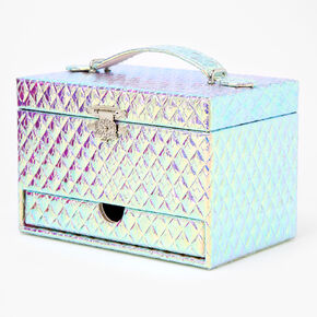 Three-Tier Holographic Jewellery Box - Silver,