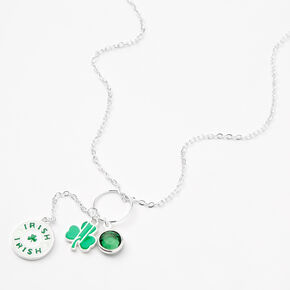 St. Patrick's Day Drop Pendant Chain Necklace - Green,