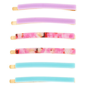 Cotton Candy Tortoiseshell Hair Pins - 6 Pack,