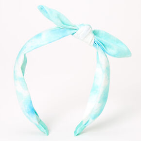 Tie Dye Knotted Bow Headband - Mint,