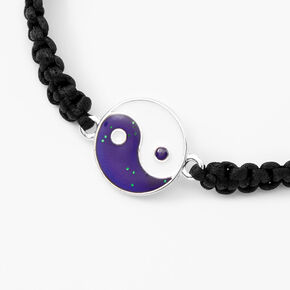 Yin-Yang Mood Bracelet - Black,