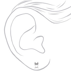 Clous d'oreilles chouette ajourés couleur argentée,