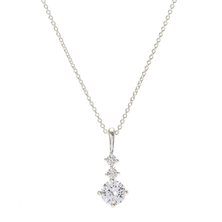 Delicate cubic zirconia pendant necklace claires delicate cubic zirconia pendant necklace aloadofball Image collections