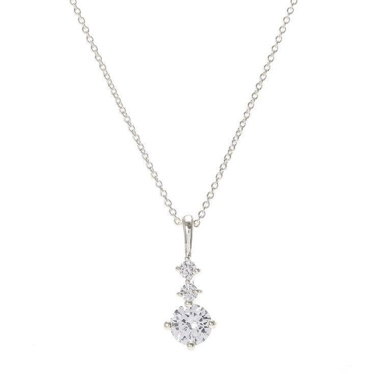 Delicate cubic zirconia pendant necklace claires delicate cubic zirconia pendant necklace aloadofball Images