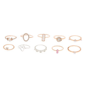 Mixed Metal Embellishment Rings - 10 Pack,