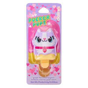 Pucker Pops Carly the Cat Lip Gloss - Grape,