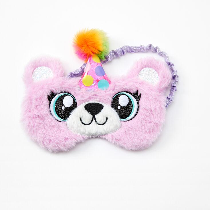 Birthday Bear Sleeping Mask - Purple,